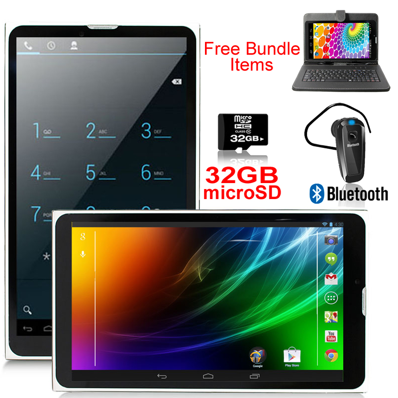 """Indigi® 7"""" Unlocked 2-in-1 3G SmartPhone + TabletPC Android 4.4 KitKat AT&T / T-Mobile (Black) w/ Bundled Items Included"""