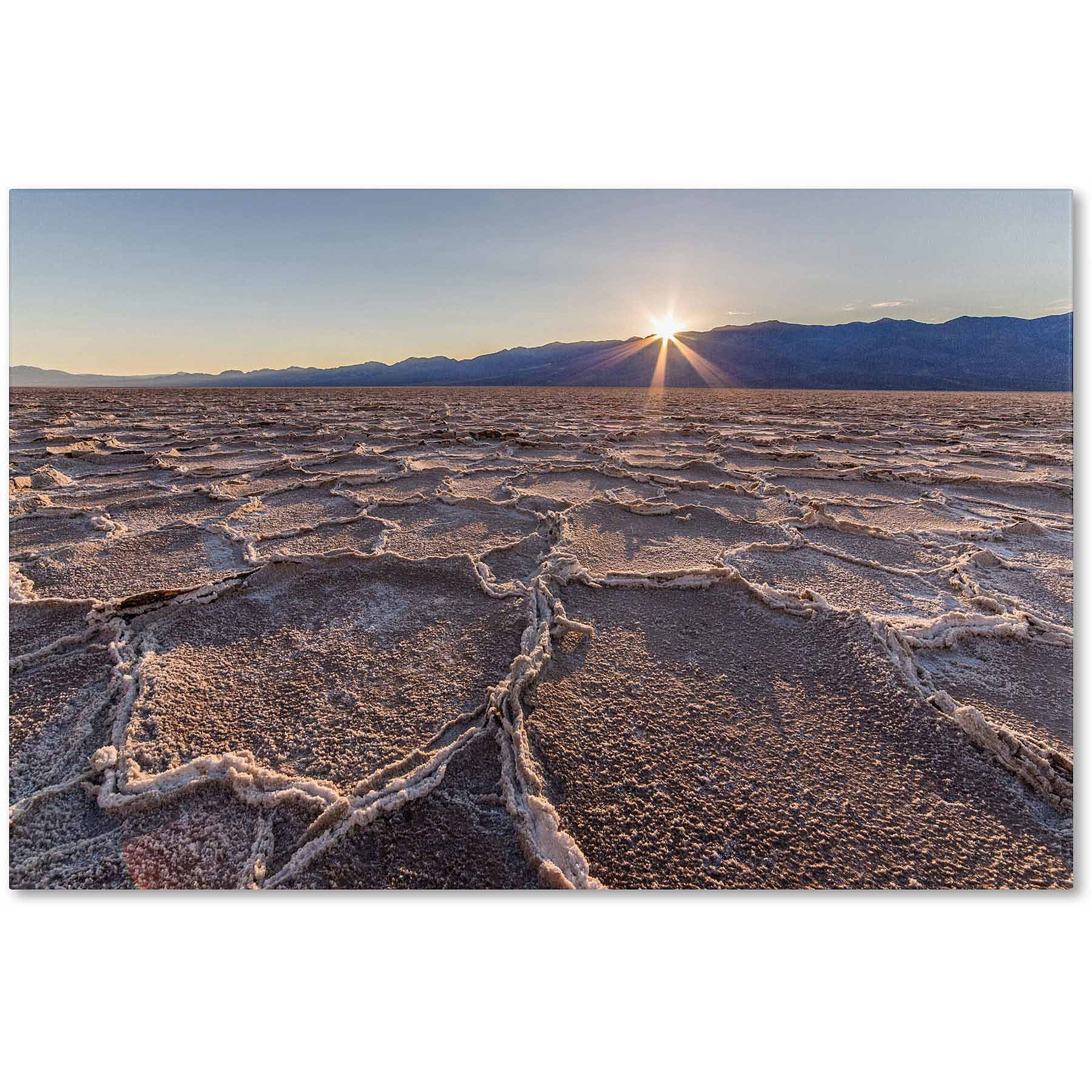 "Trademark Fine Art ""Badwater Sunset"" Canvas Art by Pierre Leclerc"