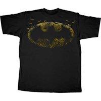 Batman Logo Symbol Bats Black T-Shirt   S