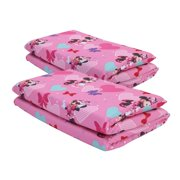 Disney Minnie Mouse Preschool Nap Pad Pink Sheets, 2 pack