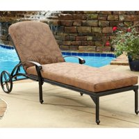 Home Styles Floral Blossom Outdoor Chaise Lounge Chair with Cushion, Charcoal