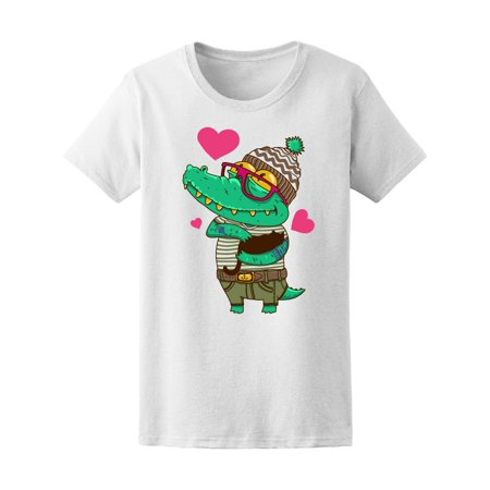 Crocodile Short (Cute Crocodile Holding Cat Love Tee Women's -Image by Shutterstock)