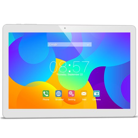 Teclast T10 Android Tablet, 10.1 inches Android 7.0 tablets with WiFi, SIM Card Slots, Hexa Core, 1.7GHz, 4GB+64GB, 8MP+13MP Dual Camera, Bluetooth, GPS, Learning Tablets for Kids Adults