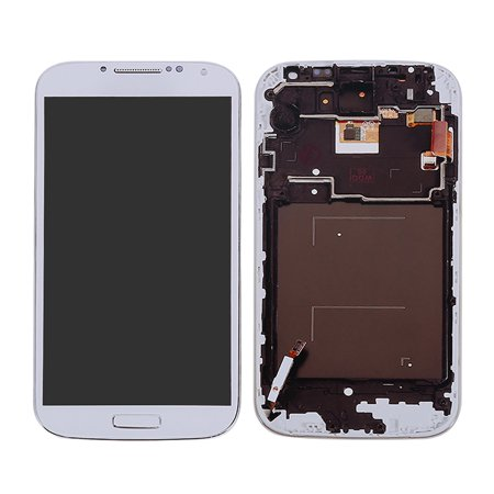 White LCD Touch Screen Digitizer Assembly +Frame For Samsung Galaxy S4