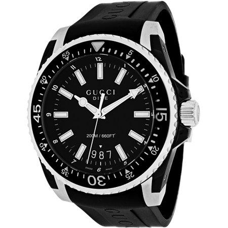Upc 731903358188 Gucci Dive Black Rubber Watch