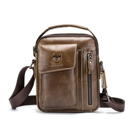 Business Style Cow Leather Men Bag Casual Design Men Messenger Bag Best Gift - image 1 of 8