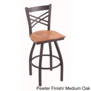 Holland Bar Stool Company Steel Frame  Oak Bar Stool by Overstock