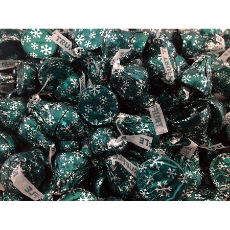 Kisses Truffle - Hershey's Kisses Dark Chocolate with Mint Truffle, Mint Green Foil (Pack of 2)