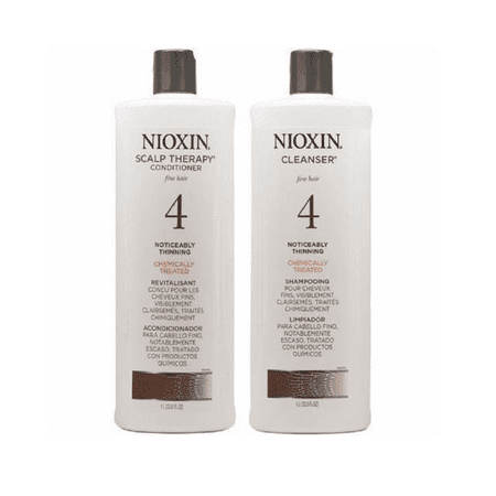 Nioxin System 4 Cleanser Amp Scalp Therapy Duo Set 33 8oz