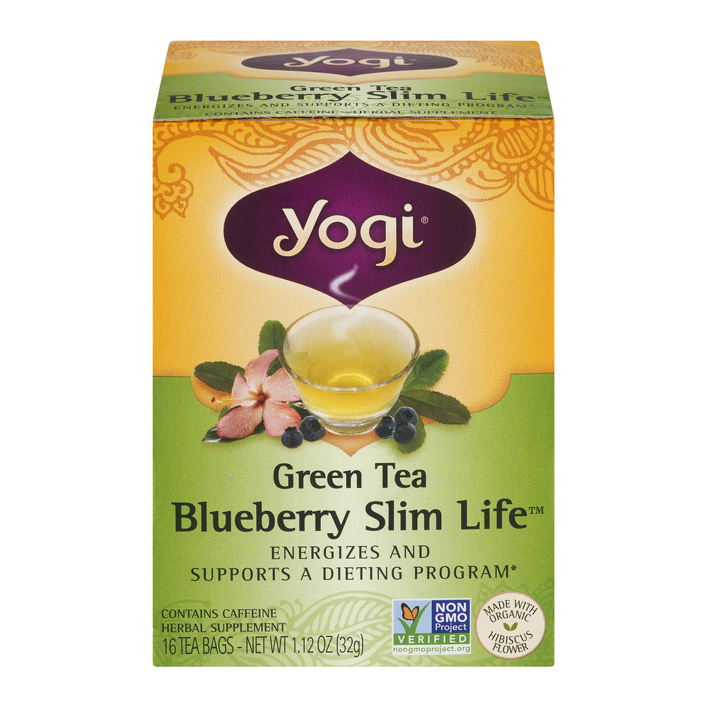 Yogi Green Tea Blueberry Slim Life Tea - 16 CT