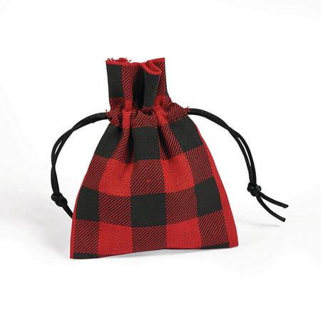 Burton Plaid Bag (Buffalo Plaid Fabric Bags (12) )