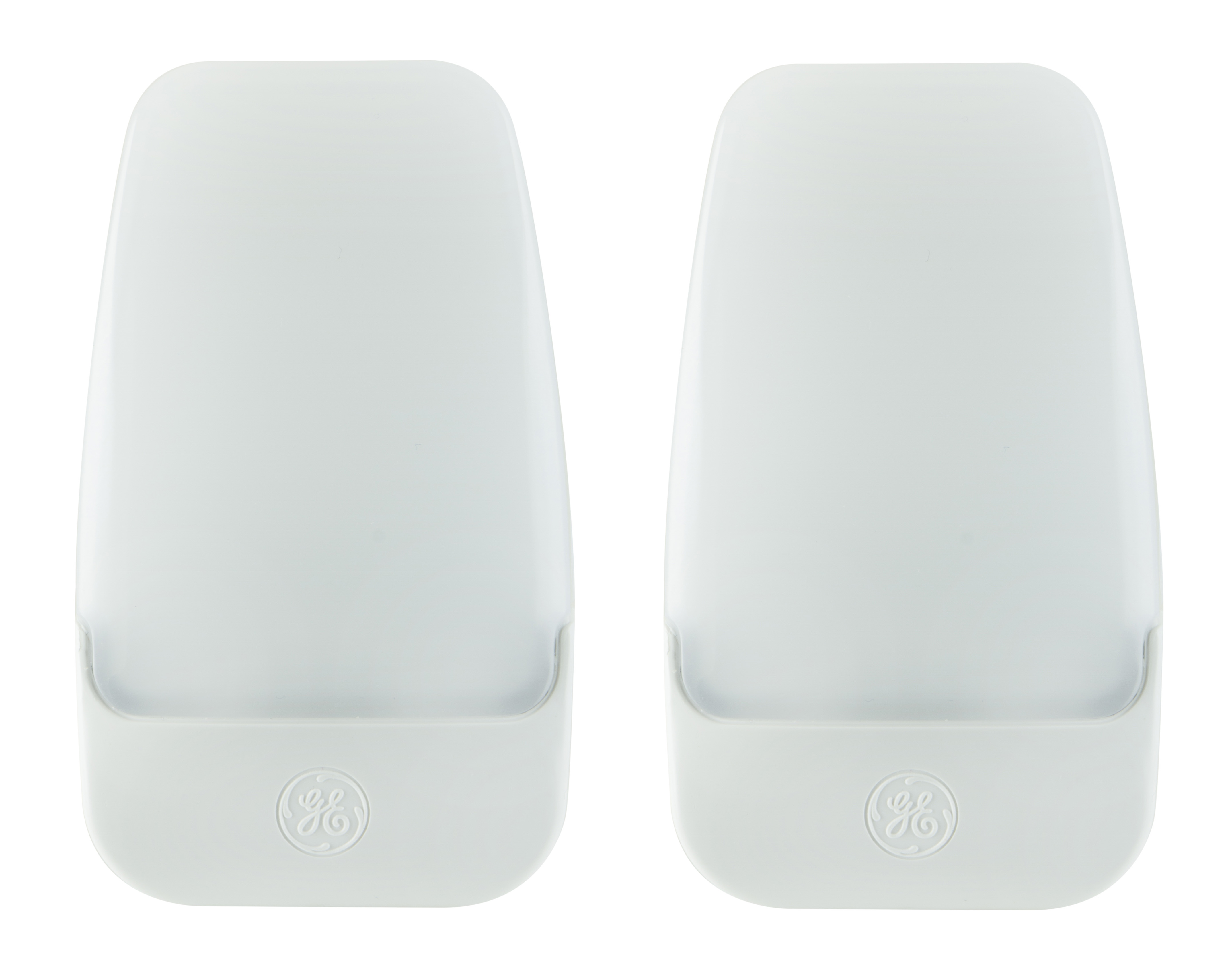 GE Automatic LED Plug-In Night Light, 2-Pack, Contempo Design, White, 30966 by Jasco Products Company