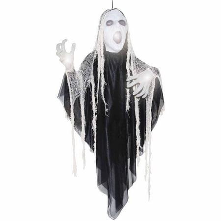 5' Animated Sinister Reaper Halloween Prop - Animated Halloween Props Walmart