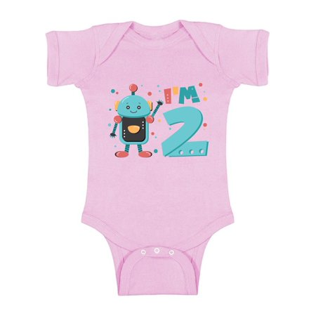 Awkward Styles Funny Robot Birthday Baby Bodysuit Short Sleeve Robot One Piece Gifts for 2 Year Old Second Birthday Shirt 2nd Year Old Shirt My 2nd Birthday Gifts for Birthday Boy Birthday Gifts](Presents For 1 Year Old Boy)