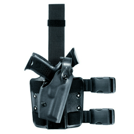 SAFARILAND 6004 SLS Tactical Holster Color: STX Tactical Gun Fit: Glock 34 (5.32  bbl) Hand: Left Leg Strap: Double