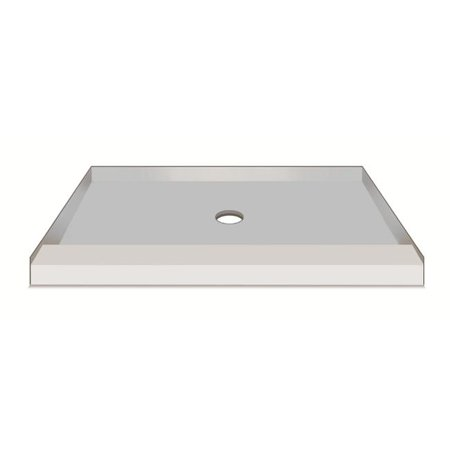 American Bath Factory S54363TP-C 54 x 36 in. Single Ready To Tile Shower Pan, 3 in.