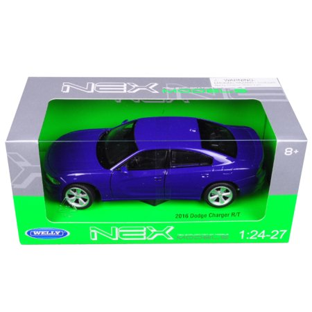 2016 Dodge Charger R/T Purple 1/24 - 1/27 Diecast Model Car by (Pur Car)