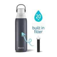 Brita Double Wall Insulated Stainless Steel Water Bottle, 20 oz - Carbon