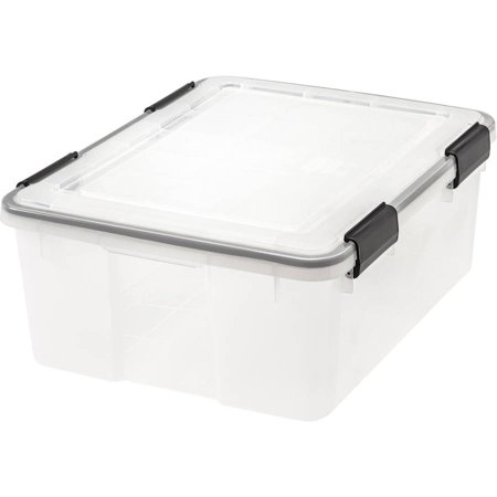 IRIS 30 Qt./7.5 Gal. WEATHERTIGHT® Storage Box, Clear (Available in Case of 6 or Single Unit)
