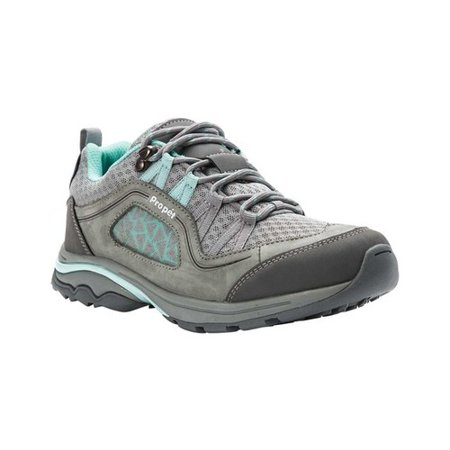 Propet Women's Piccolo Grey / Mint Ankle-High Leather Hiking Shoe - (Best Hiking Shoes For Children)