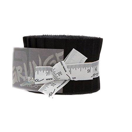 BasicGrey Grunge Basics Onyx Junior Jelly Roll 20 2.5-inch Strips Moda Fabrics 30150JJR 99 (Halloween Jelly Roll)