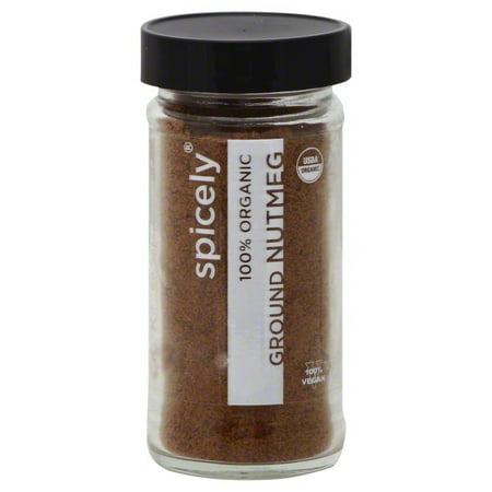 Kosher Vegan Gluten Free - Spicely Organic Nutmeg Ground - Glass Jar - Gluten Free - Non Gmo - Vegan - Kosher