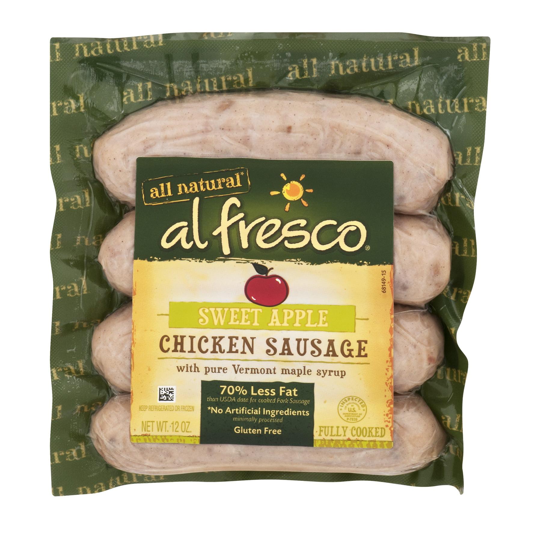Al Fresco Sweet Apple Chicken Sausage, 12 oz