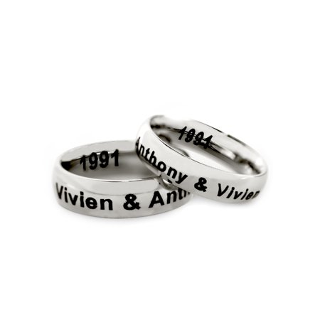 Personalized Stainless Steel Couples Spinner Ring for (Best Couple Ring Design)