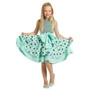 Girls Ice Blue Angelina Bow Designer Jacket Dress 8