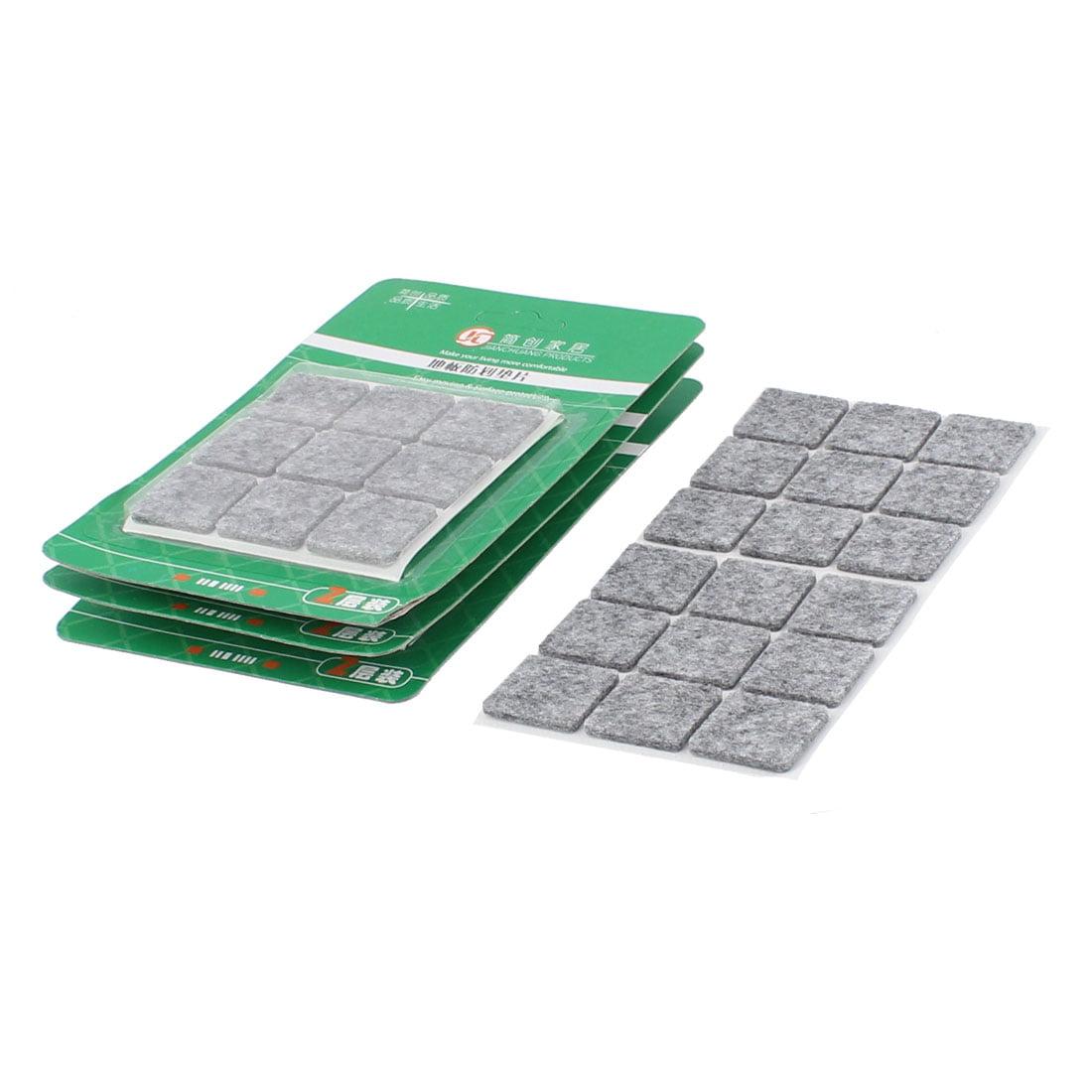 Table Chaise Pieds carré Meubles Patins Feutre Coque de Sol Protecteur 25 x 25 mm 72 pcs Gris - image 1 de 1