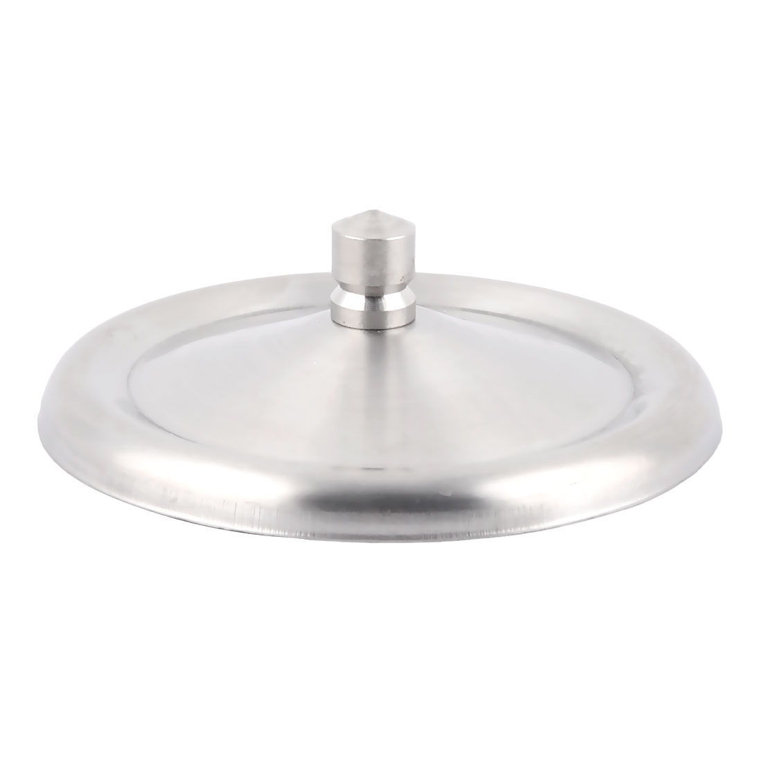 Home Stainless Steel Round Shaped Coffee Drink Cup Lid Cover Silver Tone 8cm Dia - image 2 of 2