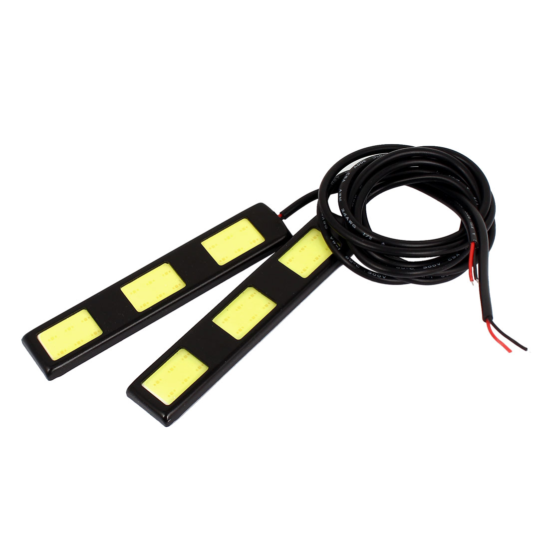Unique Bargains COB White 3  DRL Daytime Running Light Backup Strip 2 Pcs