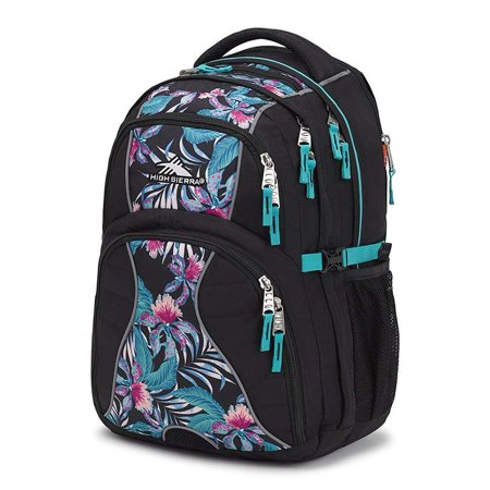 High Sierra Swerve Daypack BLACK/TROPIC NIGHTS/TURQUOISE