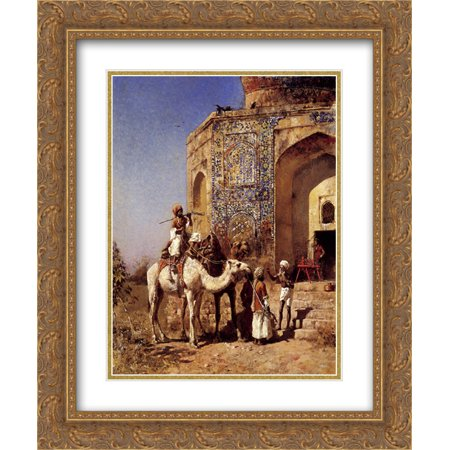Edwin Lord Weeks 2x Matted 20x24 Gold Ornate Framed Art Print