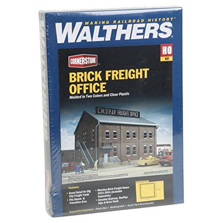 HO Scale Freight Office Kit, Easy to build By Walthers Cornerstone Series Kit