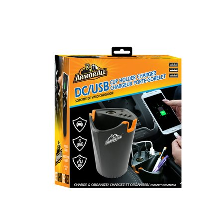 Armorall DC/3USB Cup Holder - Charger Cup