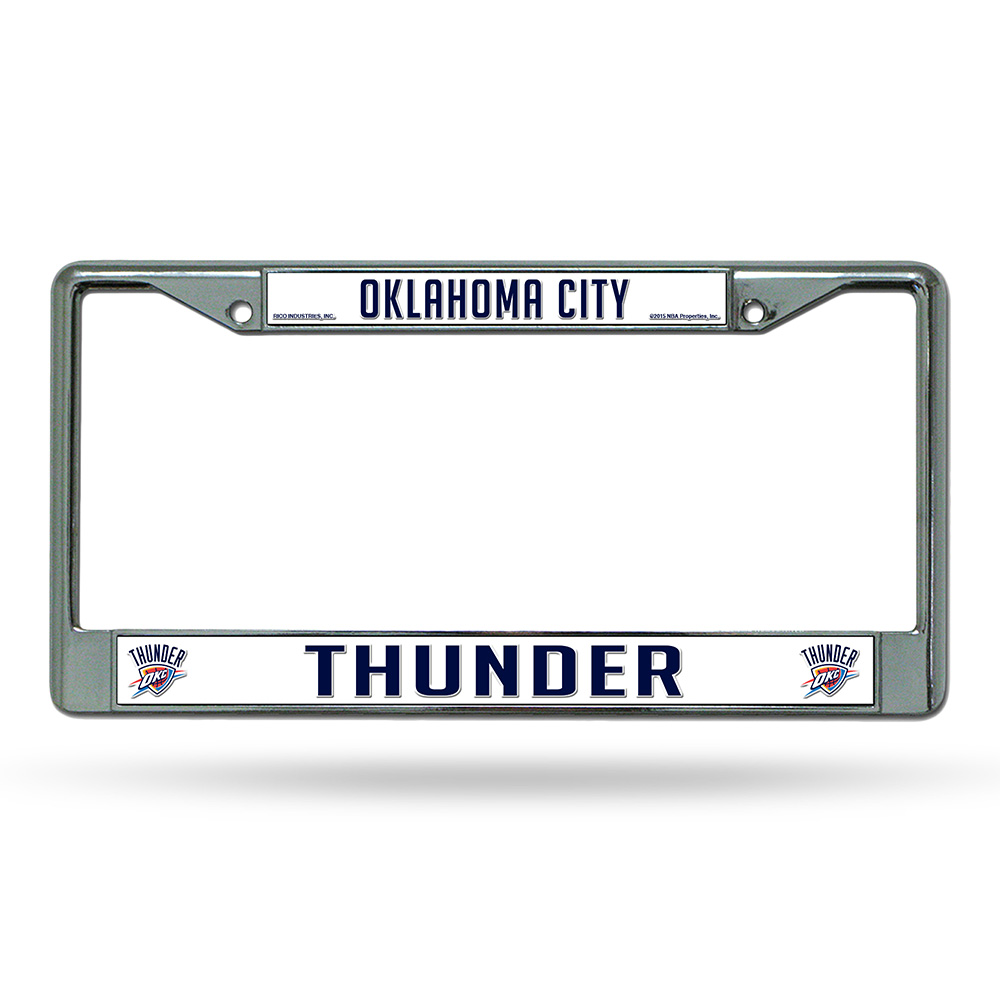 Oklahoma City Thunder NBA Chrome License Plate Frame