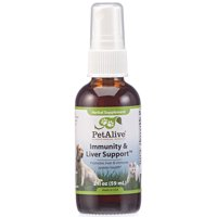 PetAlive Immunity and Liver Support Oral Spray - All Natural Herbal Supplement Promotes Liver and Immune System Health in Cats and Dogs - 59 mL