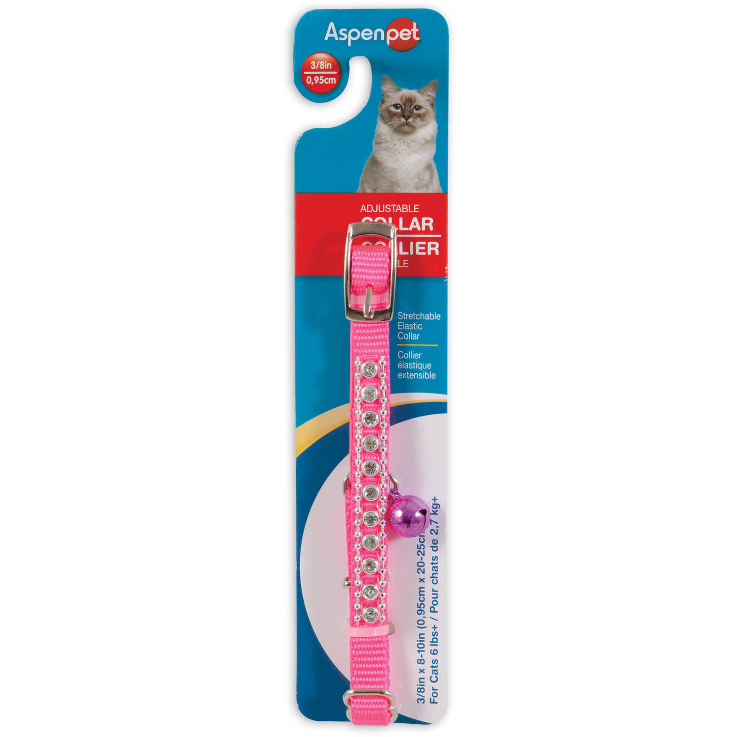 "Petmate 11391 3 8"" x 8"" Hot Pink Cat Collar by Generic"