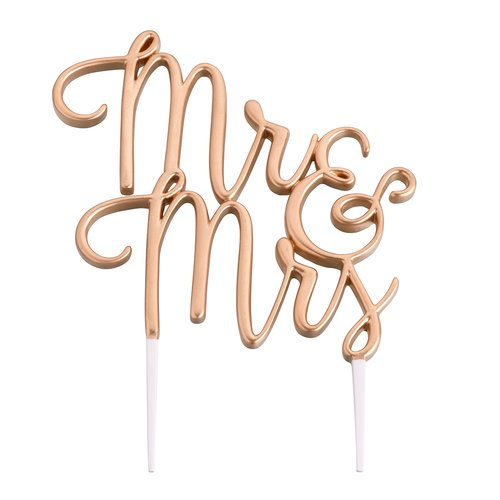 Le Prise Mr. and Mrs. Wedding Cake Topper