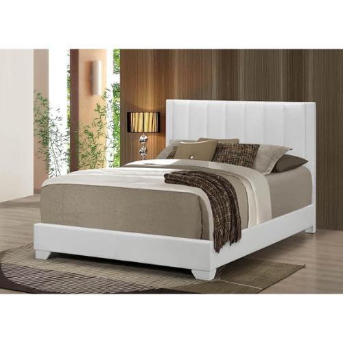 LYKE Home Moda White Bed Full