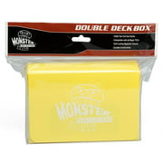 Monster Protectors MONDDYLW Trading Card Double Deck Box with Magnetic Closure, Yellow