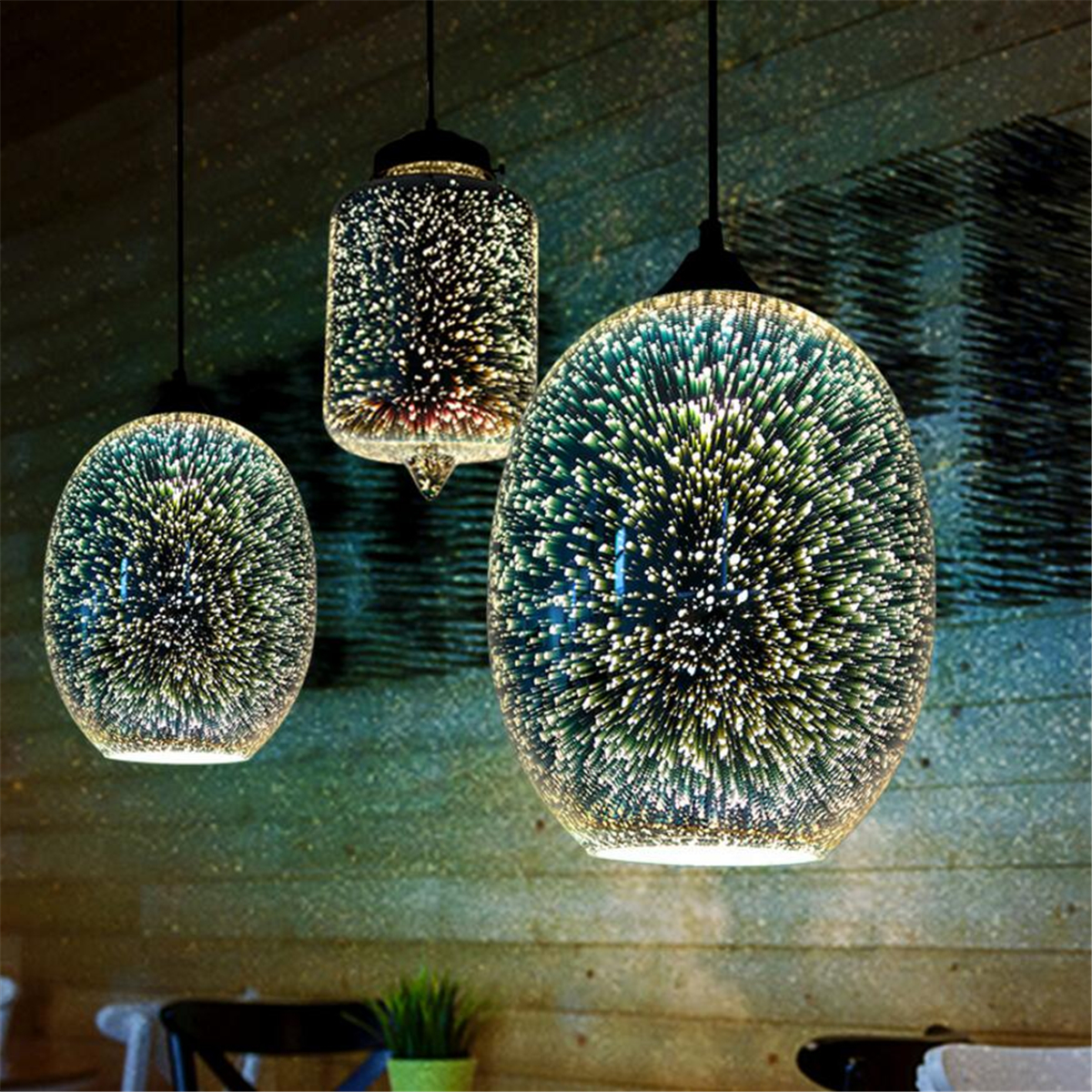 Modern Creativity 3D Art Glass Ceiling Light Chandelier Pendant Lamp for Living Room Dining Room Bedroom Exhibition Hall Bar Cafe