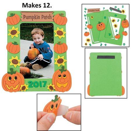 Halloween Picture Frame Craft Kits - 12 Pack (pumpkin patch) By happy deals for $<!---->