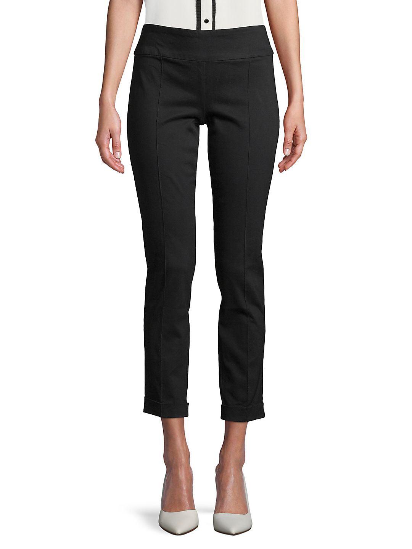 Petite Cuffed Seam Slim-Fit Trousers