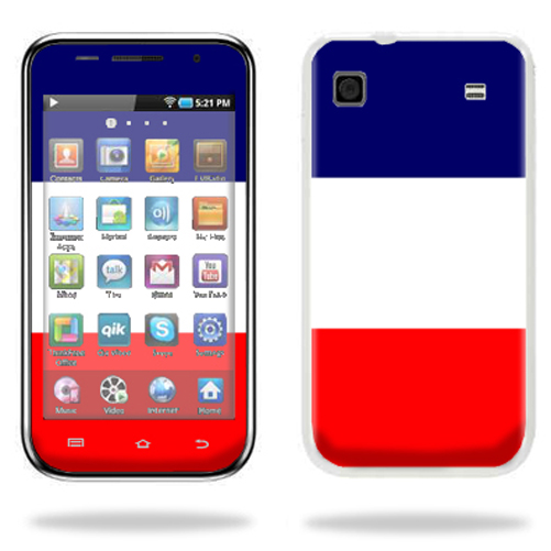 Mightyskins Protective Vinyl Skin Decal Cover for Samsung Galaxy Player 4.0 MP3 Player wrap sticker skins France Flag