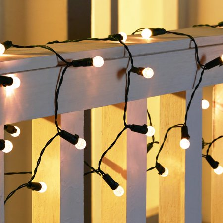 Holiday Time 50 8-Function Battery Operated LED White Warm G12 Lights Indoor or Outdoor Use
