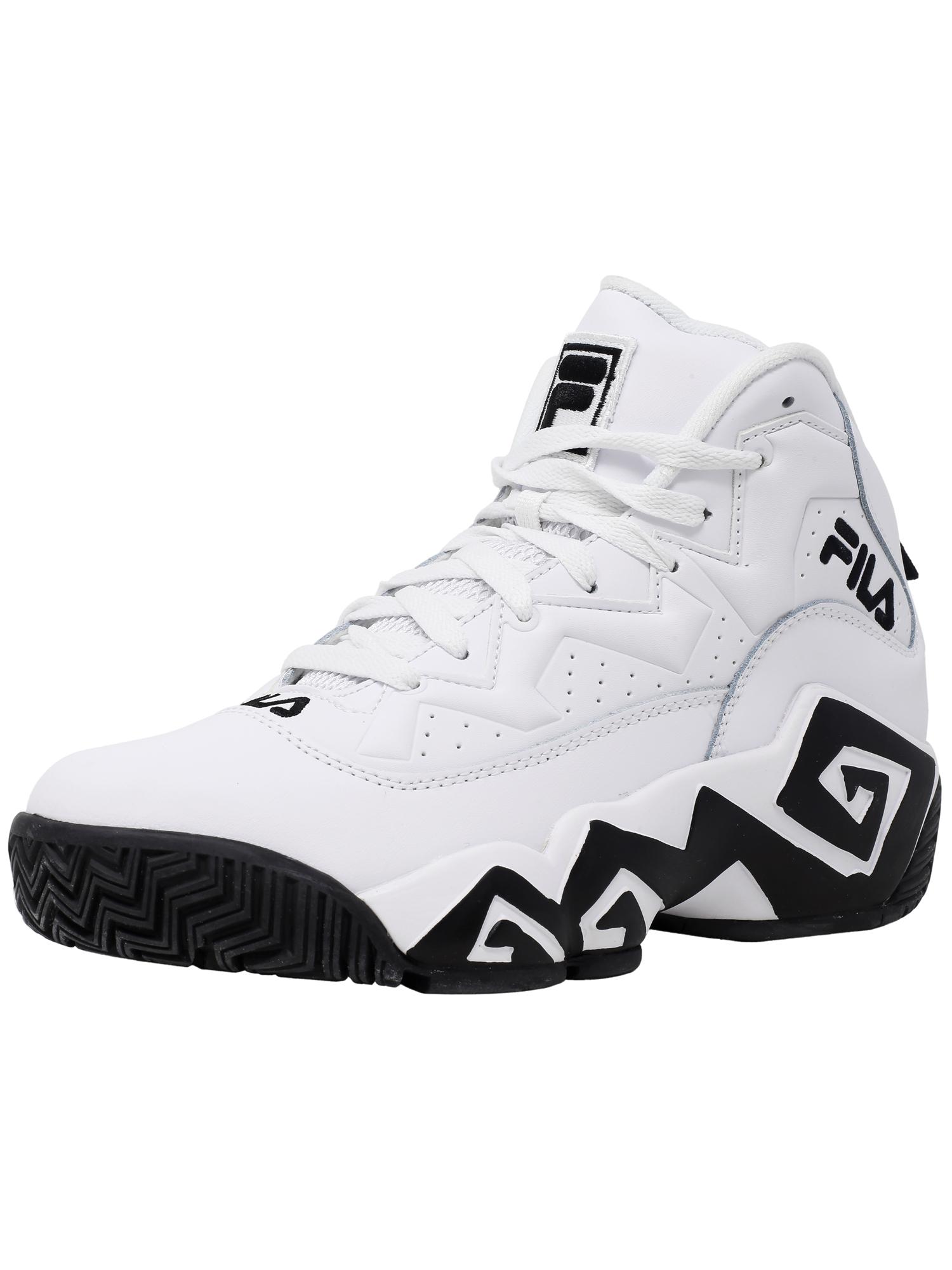 Fila Fila Men's Mb White Black High Top Basketball Shoe 9.5M