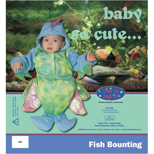 Dress Up America Infant Cute Iridescent Fish Costume, Multi, 0-12 Months