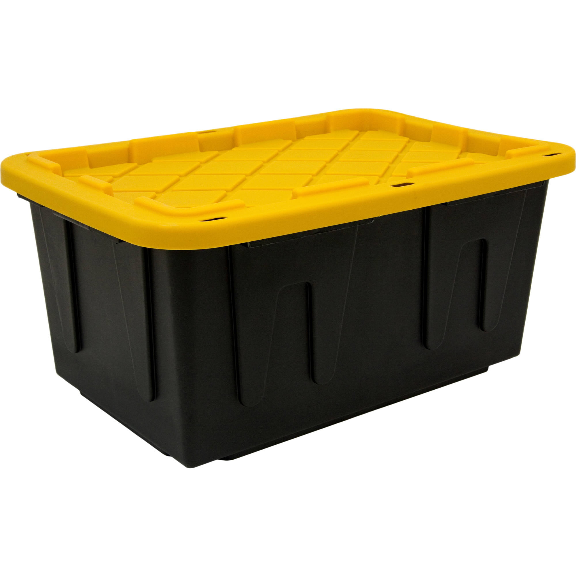 Plastic Storage Tote, Black/Yellow (Set Of 4)   Walmart.com